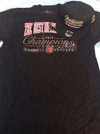 NEW Raptors x OVO EXCLUSIVE Championship SnapBack Hat & Large T-Shirt Toronto, M6A