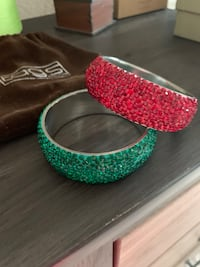 2 Rhinestone Bangle Bracelets Virginia Beach, 23462