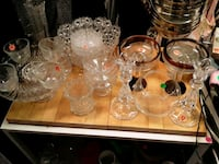 Crystal and glass vases as well as plates ect. Lynn, 01902