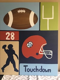 Football Themed Canvas Art Laurel, 20723