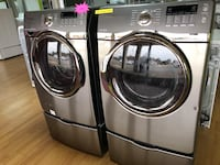 Samsung gray washer and dryer set with pedestals  Woodbridge, 22191