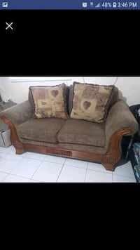 brown fabric 2-seat sofa Miami, 33186