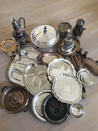 Silver & silver plated serving ware. Just needs to be cleaned. $100 for all.  Canoga Park, 91304