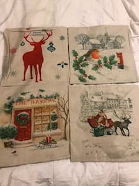4 Holiday pillowcases $5 each or $20 for all four Jackson, 08527
