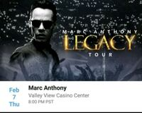 Marc Anthony- Legacy Tour - section C - road 11 -  National City, 91950
