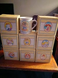 8 CABBAGE PATCH KIDS MUGS 1985