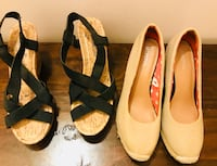 women's two pairs of black and brown flats New York, 11215