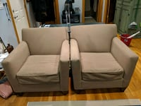 2 crate and barrel armchairs  Chicago, 60647