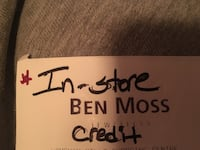 BEN MOSS JEWELLERS IN STORE CREDIT Vaughan, L4H 2Y3