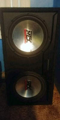 black and gray MTX Audio subwoofer London