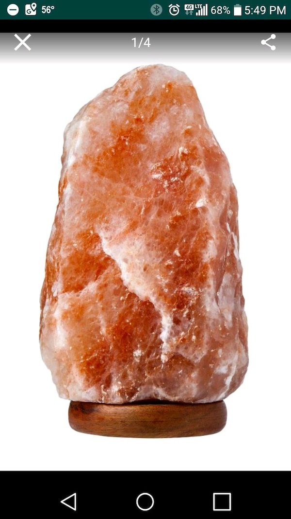 Brand New Himalayan Salt Lamp w/dimmer switch