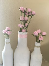 Center pieces pink white gold 7 total