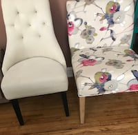 white and red floral padded chair Hyattsville, 20781