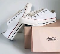 Converse addict white leather lows, Brand new Vancouver, V5W 2V3