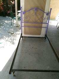 purple and black metal bed frame Rancho Cucamonga, 91730