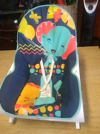 baby's blue and green bouncer Hampton, 23661