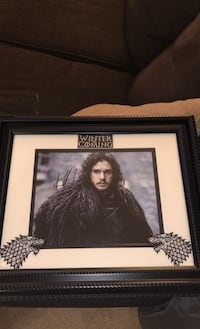 8x10 Kit Harrington Autographed photo with patches Sterling, 20166