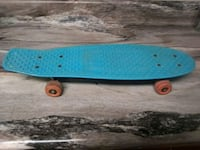 blue and brown wooden skateboard Norman, 73072