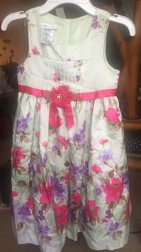 White and pink floral sleeveless dress Stafford, 22556