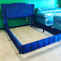 Brand New Upholstered Twin Size Headboard, Tufted, High Quality - New Metal Frame Included  Cranston