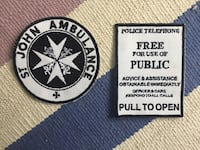 two clothing patches