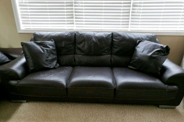 2 Italian leather sofas