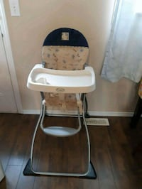 baby's white and black high chair Calgary, T1Y