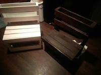 Handmade benches with book storage Claremore