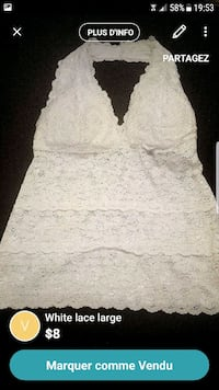 White lace large  Montreal, H4E 2Z8