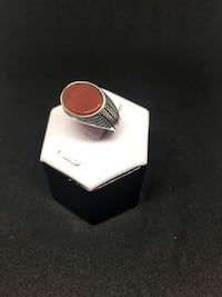 Silver ring, agate stone 562 km