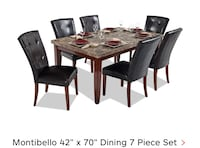 rectangular brown wooden table with six chairs dining set Montgomery Village, 20886