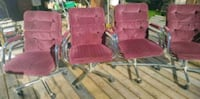 4 Swivel Rolling Dining chairs Surrey, V3S 3L7