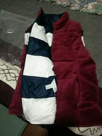 red, white, and black zip-up hoodie Mission, 78572