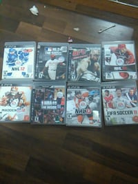 nine assorted PS3 gams Surrey, V3R 4Y1
