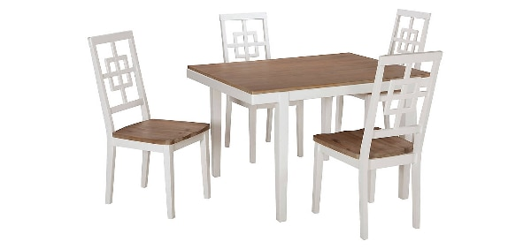 Used White Rectangle Dining Room Table Set for sale in ...