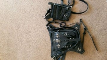 Two Gothic side bags