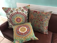green, white, and red floral throw pillow El Paso, 79927