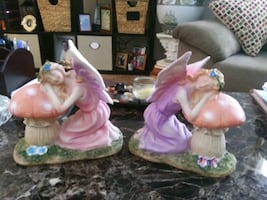 Two Fairy statues