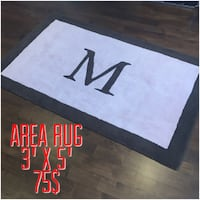 black and white area rug Laval, H7G