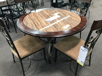 New Round Wooden Dining Set. Free Delivery ! Los Angeles, 90012