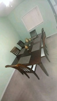 brown wooden dining table set Mississauga, L4W 1S9