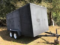 condition: fair  make / manufacturer: Homemade  model name / number: 12 X 6  paint color: black  size / dimensions: 12 X 6 X 6   Homemade enclosed 12 X 6 trailer Dual axles  Extra wheels Lutz, 33549
