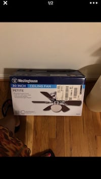 black and gray ceiling fan box Fort Washington, 20744