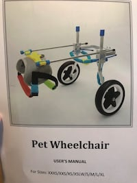 Adjustable doggy wheelchair