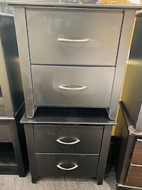 2 Black Nightstands
