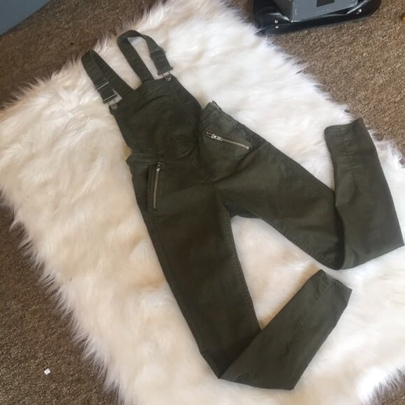 H&M Olive Overalls