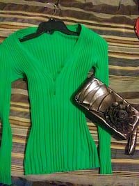 Rue 21 and big Buddha long sleeve and clutch