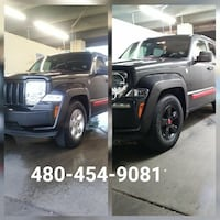 Jeep - Liberty - 2015.  Plasti dip painting servic Chandler, 85226