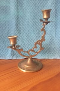 8 inch high brass candle holder Damascus, 20872