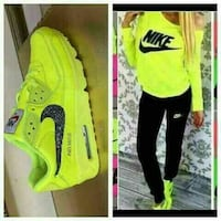 collage sneaker Nike Air Max 90 verde e nero Trento